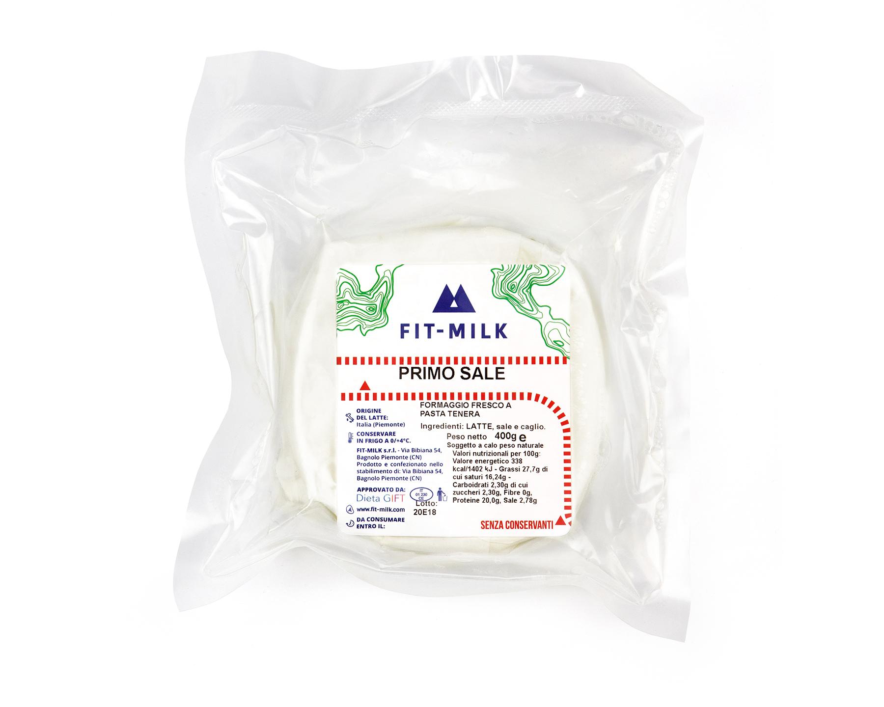Primo Sale prodotto da latte da erba grass fed