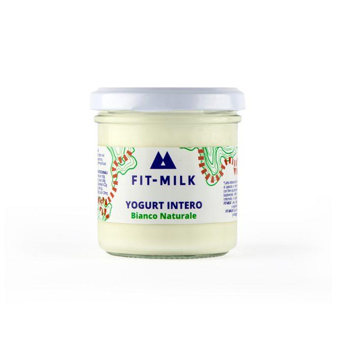 Yogurt intero bianco naturale prodotto da latte da erba, latte grass fed
